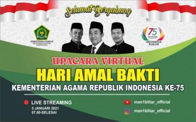 UPACARA VIRTUAL HARI AMAL BAKTI KEMENTERIAN AGAMA REPUBLIK INDONESIA KE-75